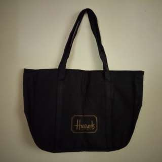 HARRODS Bag with zipper. Brand new, never used