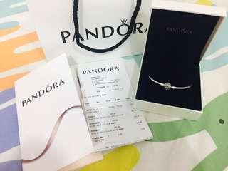pandora silver bangle 19全新