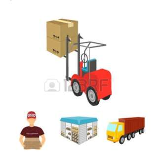 Warehouse storage, Lorry and forklift rental!