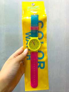 ICEFIRE COLOR WATCH 藍黃粉手錶