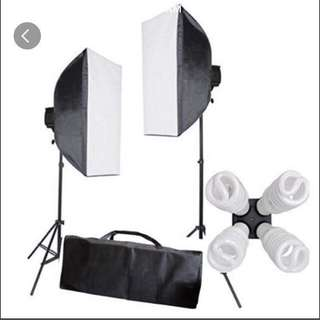 FREE DELIVERY Lighting photo video studio softbox continuous flash diffuser booth camera digital portrait photography led
