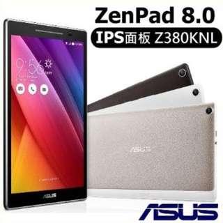 【ASUS】ZenPad 8.0 Z380KNL 8吋 通話平板  送原廠皮套