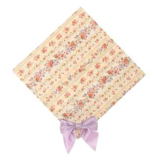 Maison de FLEUR Yellow Antique Flower Ribbon Handkerchief