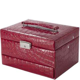Cheri Bliss Jewelry Case, Medium, Red