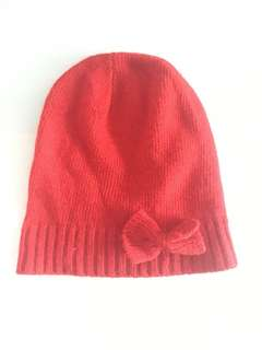 H&M Red Beanie with Bow