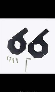 "1.5"" 2"" mount bracket tube clamps for spot/fog light(big size)"