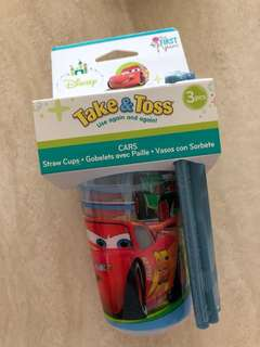 Disney Cars Take & Toss Straw Cups (3pcs)