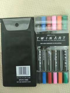 Twin Art Highlighter Double Sided 6Colour