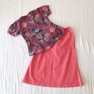 Baby Girl Peplum Malay Set