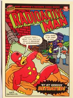 1993 Skybox Simpsons Series 1 Base Card #R7 (Radioactive Man 7)