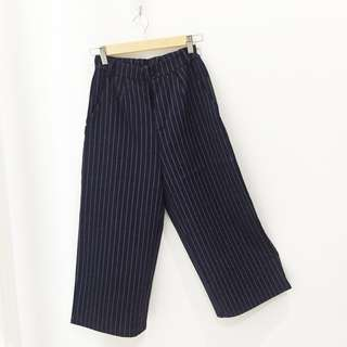 🆕BRAND NEW Striped Pocket Culottes Blue Pants