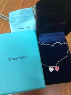 Tiffany 禮物頸鏈頸鍊手鏈手鍊 經典粉紅色全新 名牌幼頸鏈手鍊 母親節必備禮物🎁 生日禮物!