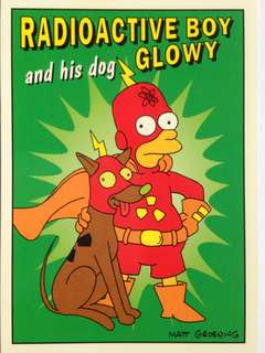 1993 Skybox Simpsons Series 1 Base Card #R5 (Radioactive Man 5)