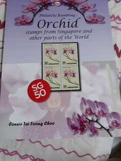 Stamps  on orchid