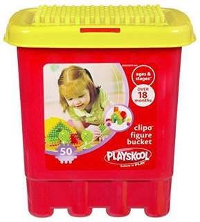 Playskool Clipo 50 piece bucket