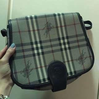 Burberry Leather Handbag (Made in England)