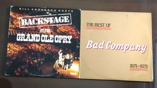 BAD CO / BACKSTAGE AT THE GRAND OLE OPRY. the best of 1974 -1976 / various artists.( buy 1 get 1 free ) Vinyl record