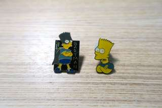 中古simpson襟章pin