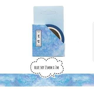 Blue sky washi tape