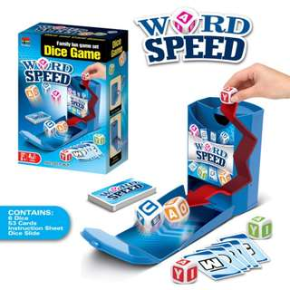 Word Speed Dice Slide Game