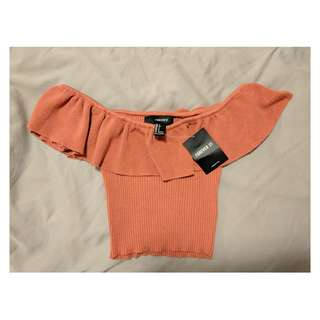 Deep sunset colour crop top. Small, BNWT.