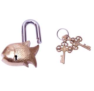 Brass fish keyed padlocks
