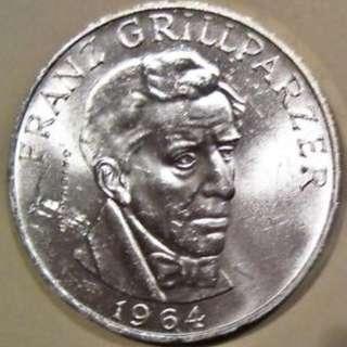 25 Schilling Franz Grillparzer