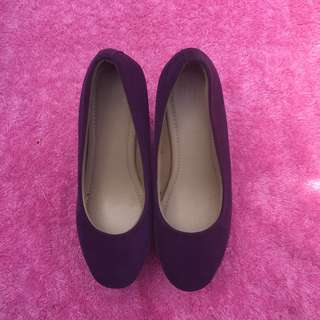 Wedges shoes platform sneakers velvet in dark purple