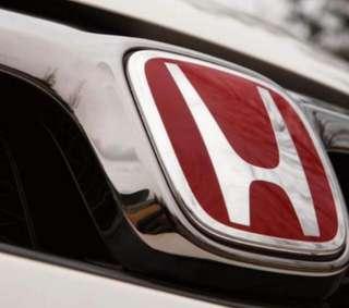 Honda Civic FD/Vezel/HRV red emblem