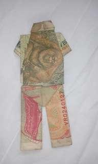 Uang kertas Rp;500 & Rp;100