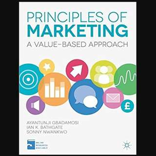 Principles of Marketing: A Value-Based Approach - BK2006
