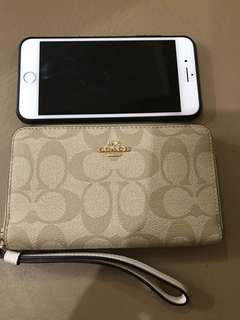 Coach Zip Around Wallet/Phone Wristlet