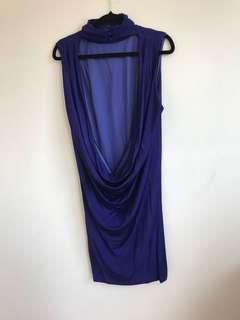 Backless, high collared Wayne Cooper dress