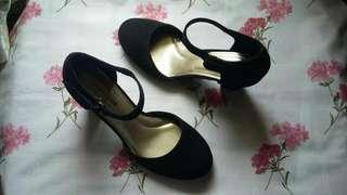 Comfort Plus Black High Heels