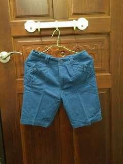 🚚 藍色五分短褲