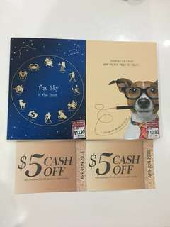 (Bundle sale) BN Popular note books with popular voucher