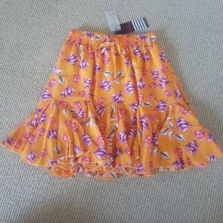 Beautiful Mustard Floral Skirt