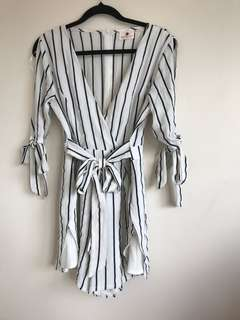 Morning Mist striped play suit