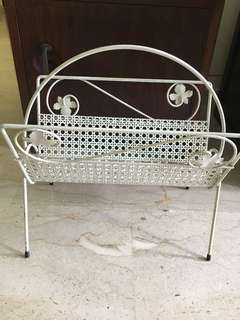 Vintage Basket weave Magazine rack