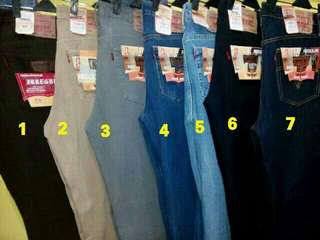 Celana jeans pria model levis standart