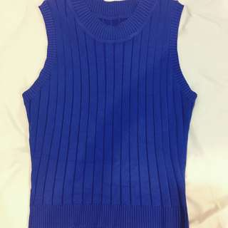 Royal Blue Knitted Top