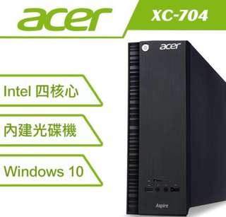 🚚 ACER 宏碁 XC-704 J3160 四核 Win 10 桌上型電腦