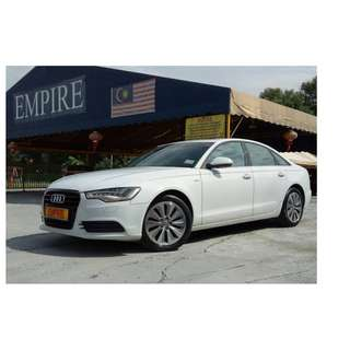 AUDI A6 2.0 ( A ) HYBRID !! TFSI TURBO !! NEW FACELIFT !! CBU !! PREMIUM FULL SPECS COMES WITH BOSE AUDIO MMI SUNROOF POWER BOOT PUSH START AND ETC !! ( BXX 26 ) 1 CAREFUL OWNER !!