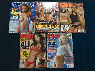 Year 2000 FHM and Maxim Magazines