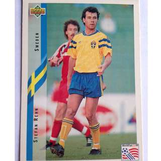Stefan Rehn (Sweden) Soccer Football Card #97 - 1994 Upper Deck World Cup USA '94