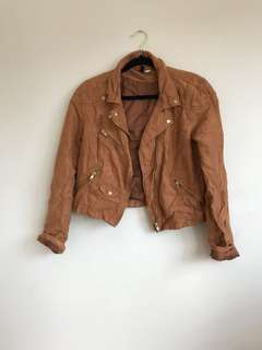 Tan suede crop jacket