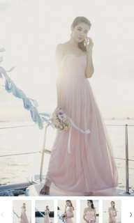 Threadtheory beloved by the sea tulle dress (blush pink)