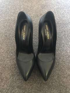 Saint Laurent black heels 38