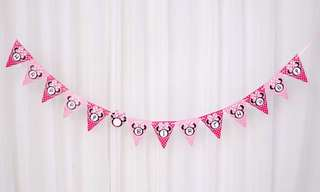Minnie party supplies - Birthday bunting banner / party deco