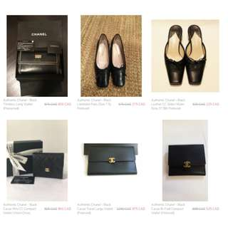 chanel wallet and shoes